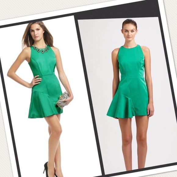 8e2babf92cbb2 Milly Dresses | Saxon Tafetta Panel Mini Emerald Green | Poshmark